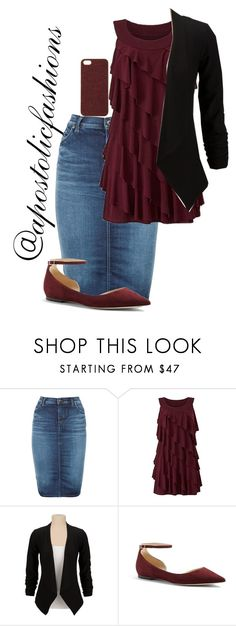 """Apostolic Fashions #1340"" by apostolicfashions ❤ liked on Polyvore featuring Diesel, Jimmy Choo and Scotch & Soda"