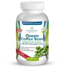 Pure Green Coffee Bean Extract with 50% CGA - 800 mg/capsule - 1600 mg per Serving (only 2 capsules/day)- 60 Capsules - All Natural - Premium Quality - Proven Weight Loss Supplement and Appetite Suppressant - No Artificial Additives - Satisfaction Guaranteed - 100% Money Back Guarantee Omega Soul TM,http://www.amazon.com/dp/B00DZR6JDM/ref=cm_sw_r_pi_dp_Lsrwtb1RCZMSY5QR