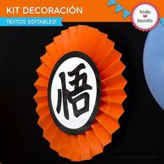 Dragon Ball: kit decoración - Todo Bonito Goku Birthday, Naruto Birthday, Asian Dragon Tattoo, Dragon Tattoos For Men, Dbz, Dragon Z, Ball Birthday Parties, Baby Boy Shower, Diy And Crafts