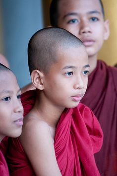 Young Monks, Shwedagon, Yangon, Myanmar