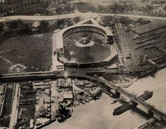 Polo Grounds - New York.  Home to the Giants and Yankees both from 1913 to 1922.