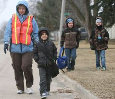 A few weeks ago in Iowa, students braved snow and single-digit weather to take part in their walking school bus. Now that's dedication!