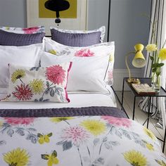 Amala Painterly Floral Bedding Set Designed By Burke Decor via Stylyze Linen Bedroom, Bedroom Bed, Linen Bedding, Bedding Sets, Bedroom Ideas, Bedrooms, Master Bedroom, Bed Linen, Bed Sets