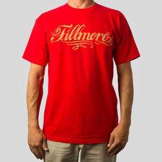 Fillmore Script T-Shirt in Red