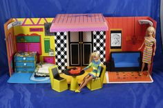 Vintage 1968 Barbie Family House Furniture Dolls Mary and I played this every Saturday together!