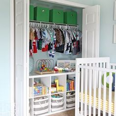 Kids' closets give you so much room to play with interior storage 'cause their clothes are so wee! | 21 Brilliantly Organized Closets That Will Make You Want To Clean