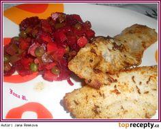 filet z mořské štiky se salátem z červené řepy