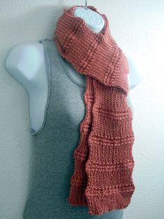 Sell The Scarves You Make From This Easy Knitting PATTERN in JPEG Format from Etsy Shop PurpleDaizieDestash ($4.00)