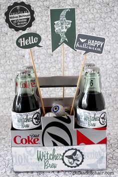 Witches Brew- DIY Halloween neighbor gift idea - with free printable labels!