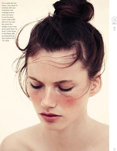 rosy cheeks, top knot