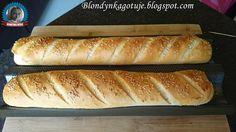 Blondynka Gotuje: Bagietki Orkiszowe Łatwe Hot Dog Buns, Hot Dogs, Gluten, Bread, Food, Brot, Essen, Baking, Meals