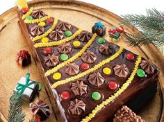 <3 Tree Shaped Brownie Torte | Christmas Food