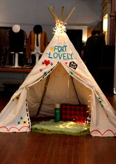 Fort lovely, for camping inspired movie night.