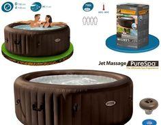 Consigue tu spa terapia con Jets de Intex. Elegante y de alta calidad con sistema de 4 jets regulables, que te ayudará a relajarte. Contiene un sistema de calentamiento de agua hasta los 40 grados y de tratamiento anti-cal. Disfruta de la mejor calidad sin moverte de casa. http://www.top-piscinas.com/wellness-y-spas/purespa-redondo-terapia-masaje-jets-de-intex-ref-55007.html