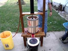 Rustic wine press