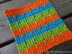 Ravelry: Bahama Stripe Dishcloth pattern by Fiber Flux / Jennifer Dickerson