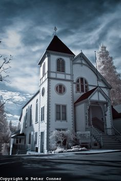 Nevada city community church~ I think this church is in the Hallmark Christmas Card movie.
