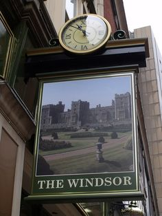 The Windsor - Cannon Street, Birmingham - pub sign Birmingham Airport, City Of Birmingham, Pub Signs, Shop Signs, Metal Signage, Uk Pub, Steampunk Clock, British Pub, Somewhere In Time