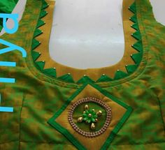 20 latest blouse back neck designs that you should try - Kurti Blouse Patch Work Blouse Designs, Kids Blouse Designs, Simple Blouse Designs, Stylish Blouse Design, Blouse Back Neck Designs, Sari Blouse Designs, Designer Blouse Patterns, Salwar Neck Designs, Neck Designs For Suits