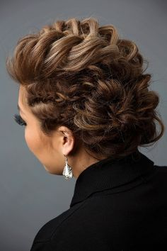 French braid into fishtail bun updo hairstyle finished look by lalasupdos