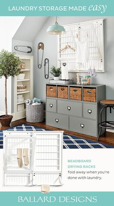 """Awesome """"laundry room storage diy small"""" info is offered on our internet site. Laundry Room Tables, Rustic Laundry Rooms, Laundry Room Cabinets, Laundry Room Organization, Laundry Storage, Storage Organization, Diy Cabinets, Storage Shelves, Metal Building Homes"""