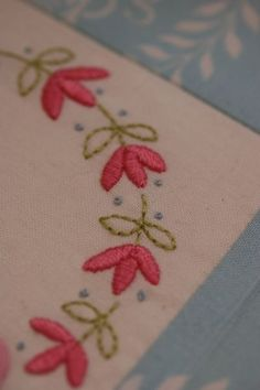 Simple but lovely #embroidery #satin_stitch #flowers