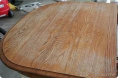 Really great tutorial on how to refinish a kitchen table...great blog also!