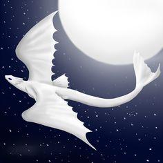 White Night Fury by ~Deathdragon0593 on deviantART