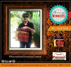 Happy Customers! Happy Us! Here's congratulating our winner Mr. Alok Seth for the #NavratreinGiveaway Contest. #Pansari #Giftpack #festival