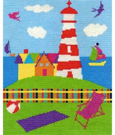 DMC counted cross stitch kit.  Includes fabric, threads, needle, chart and full instructions.