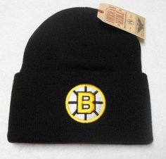Boston Bruins Black Beanie Hat - NHL Cuffed Winter Knit Toque Cap by American Needle. $14.39. Keep warm and show your NHL team pride with this stylish beanie hat!    Purchase with confidence from WaveCaps...all our beanie hats ship out same day with authentic NHL tags attached