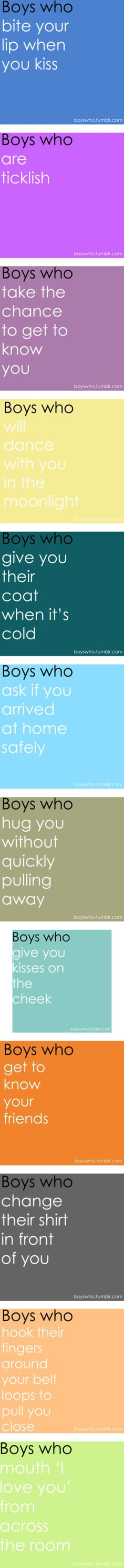 I like Boys who... by i-am-the-girl-on-fire on Polyvore featuring boys who, boys who..., quotes, words, text, boys, phrases, saying, phrase and pictures