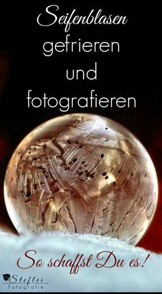 Gefrorene Seifenblasen fotografieren Tutorial about the magical frozen soap bubbles. You will learn what you need to consider when freezing and receive photo tips to successfully photograph the frozen soapbubbles. Winter Photography, Digital Photography, Portrait Photography, Overlay Photoshop, Smartphone Fotografie, Empire Ottoman, Soap Bubbles, Winter House, Photo Tips