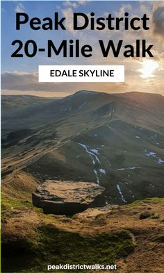The ultimate long-distance walk in the Peak District has to be the Edale Skyline. Yorkshire Dales, Yorkshire England, Norfolk Broads, Hiking Europe, Walking Routes, Cairngorms, Dartmoor, Adventure Activities, Peak District