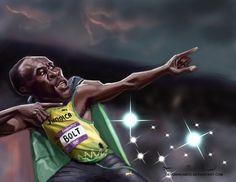Usain Bolt by DevonneAmos.deviantart.com on @deviantART