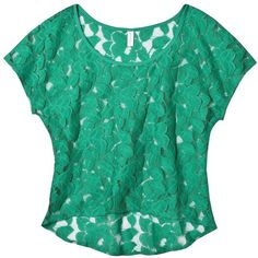 lace top ($6.98) ❤ liked on Polyvore featuring tops, t-shirts, shirts, short sleeves, short sleeve tops, short sleeve shirts, green top, short sleeve tee and short sleeve t shirt