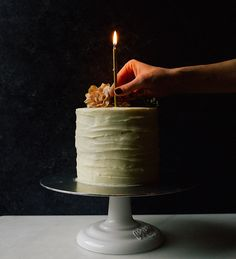 White Chocolate Cake Recipe by The Wood and Spoon Blog. A buttery white chocolate layer cake with thick and creamy creamy cheese buttercream frosting. This is the perfect birthday or celebration cake, and perfect for any chocolate or sweets lover.
