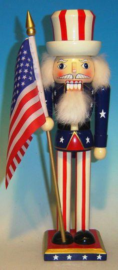 Uncle Sam Patriotic Nutcracker