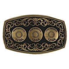 Montana Silversmiths Men's Twelve Gauge Belt Buckle