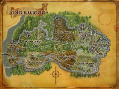 Mirkwood Map. Good to have on hand if i profess to be an elf of these woods.