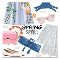 """""""Spring sunnies"""" by mycherryblossom ❤ liked on Polyvore featuring Carole, Karen Walker, Jimmy Choo, Valentino and Kenneth Jay Lane"""