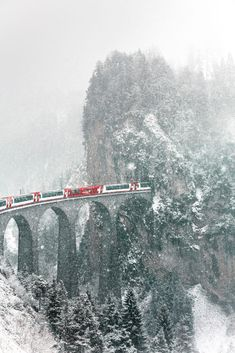 Glacier Express Photo by Julia Wimmerlin — National Geographic Your Shot Glacier Express Switzerland, Switzerland In Winter, Switzerland Wallpaper, Oh The Places You'll Go, Places To Visit, Simplon Orient Express, Winter Scenery, Beautiful Places To Travel, Winter Photography