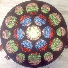 """Mask"" rotational oscillation, acrylic paint, 73 cm in diameter canvas, 2015 Emin Özdemir Fractals, Mandala, Digital Art, Handmade, Painting, Hand Made, Painting Art, Paintings, Painted Canvas"