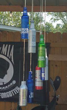 aluminum beer bottle wind chime