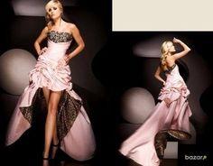 Krásne Ružovo Tigrie Spoločenské šaty