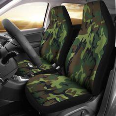 SKODA FABIA HATCHBACK Heavy Duty Waterproof Seat Covers Protectors Green Camo
