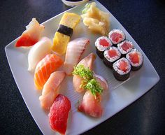 Sushi com arroz normal! Deu certo!