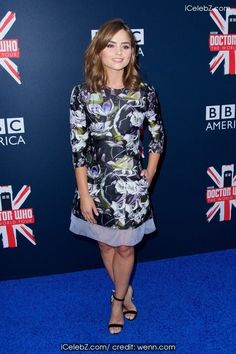 Jenna Coleman BBC America's Doctor Who Premiere fan screening event at the Ziefeld Theater http://icelebz.com/events/bbc_america_s_doctor_who_premiere_fan_screening_event_at_the_ziefeld_theater/photo2.html