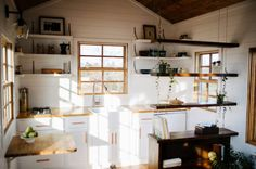 (adsbygoogle = window.adsbygoogle    []).push({});             Wind River Tiny Homes About the Monocle Tiny House The Monocle tiny home was a California couples dream that we were fortunate enough to bring to reality for them.  This 24′ tiny home is built 10′ wide to accommodate a bed on the main level while still keeping a spacious feel. The bathroom was one of the main focuses on this build and features a full size soaking tub, tile wet bath complete with rain shower head and hand held…