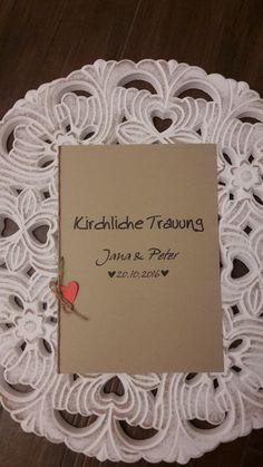 Kirchenheft Vintage Hochzeit...online Bestellung möglich,...http://de.dawanda.com/shop/Gellert-123